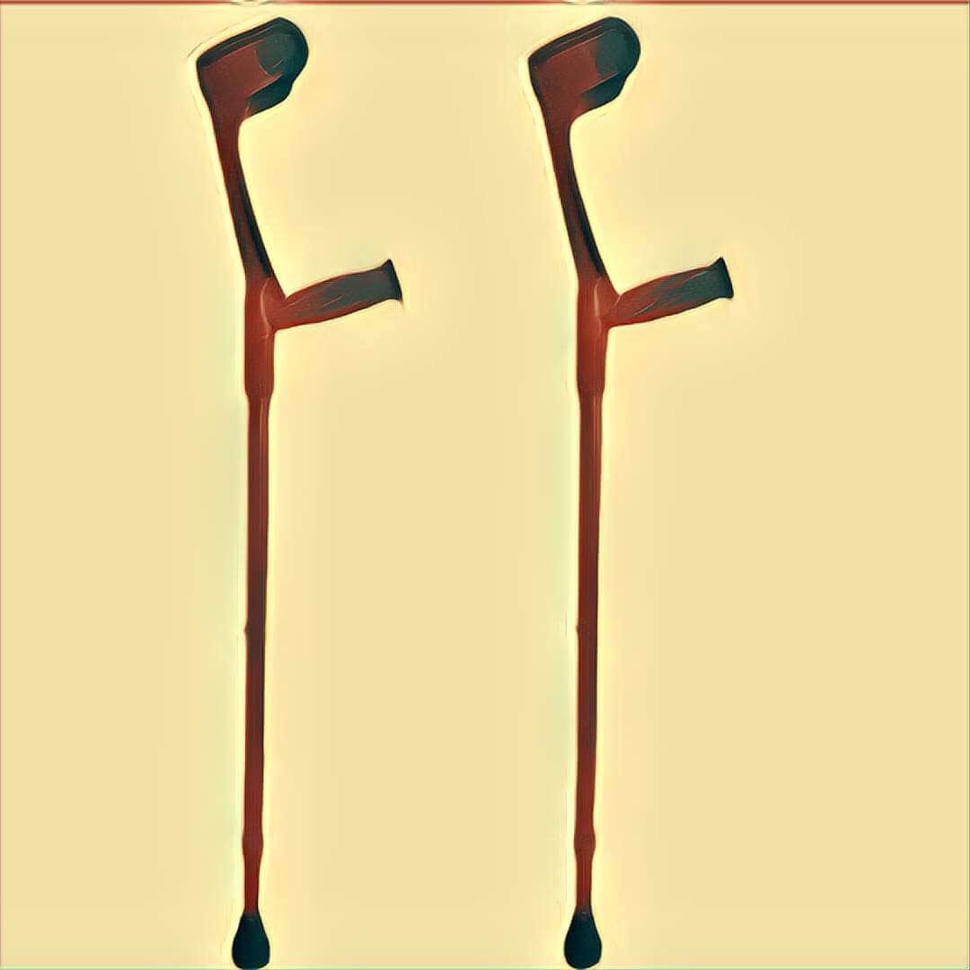 Belastung heartmicniva: ohne krücken laufen Gehen mit