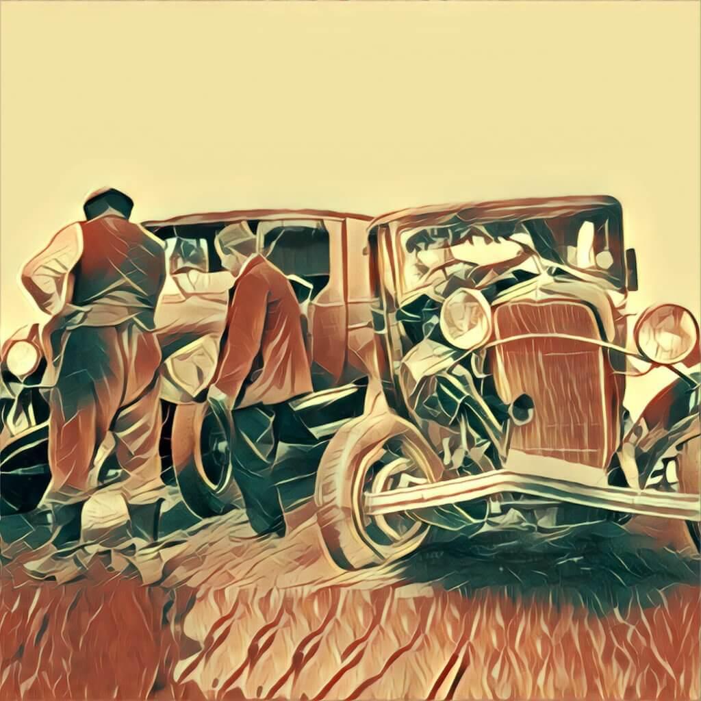 Traum Autounfall