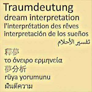 Traumdeutung Fremdsprache